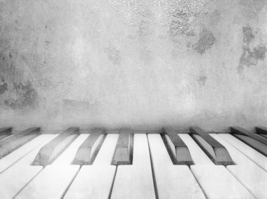 Piano keys - vintage music background