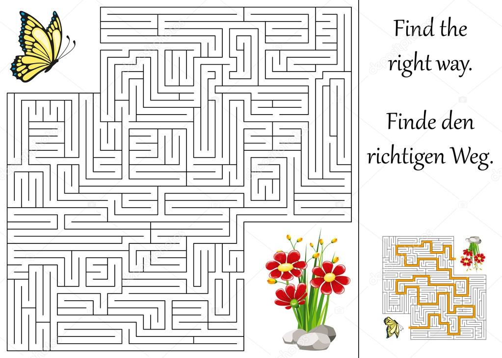 Stock Illustration Education Maze Or Labyrinth For on File Maze Type Standard