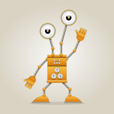 Funny robot stock vector