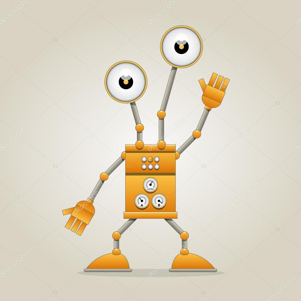 Funny robot stock vector