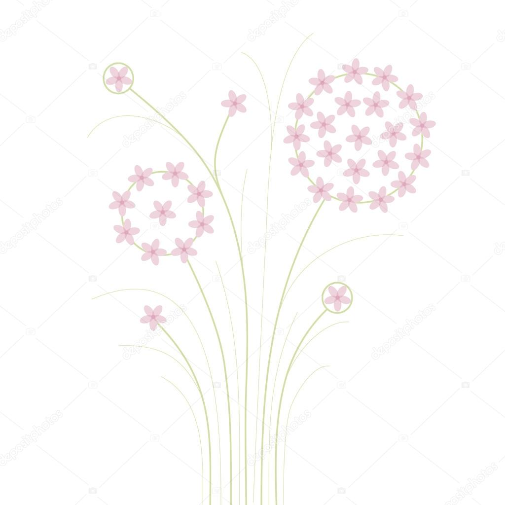 Delicate Pink Flowers Stock Vector Gwolf 63811751