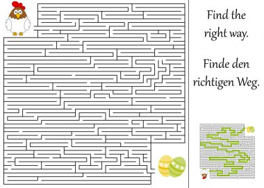 Find the right way through the maze