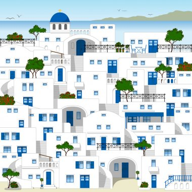 White houses in Greece