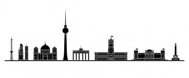 Berlin skyline - Vector Illustration