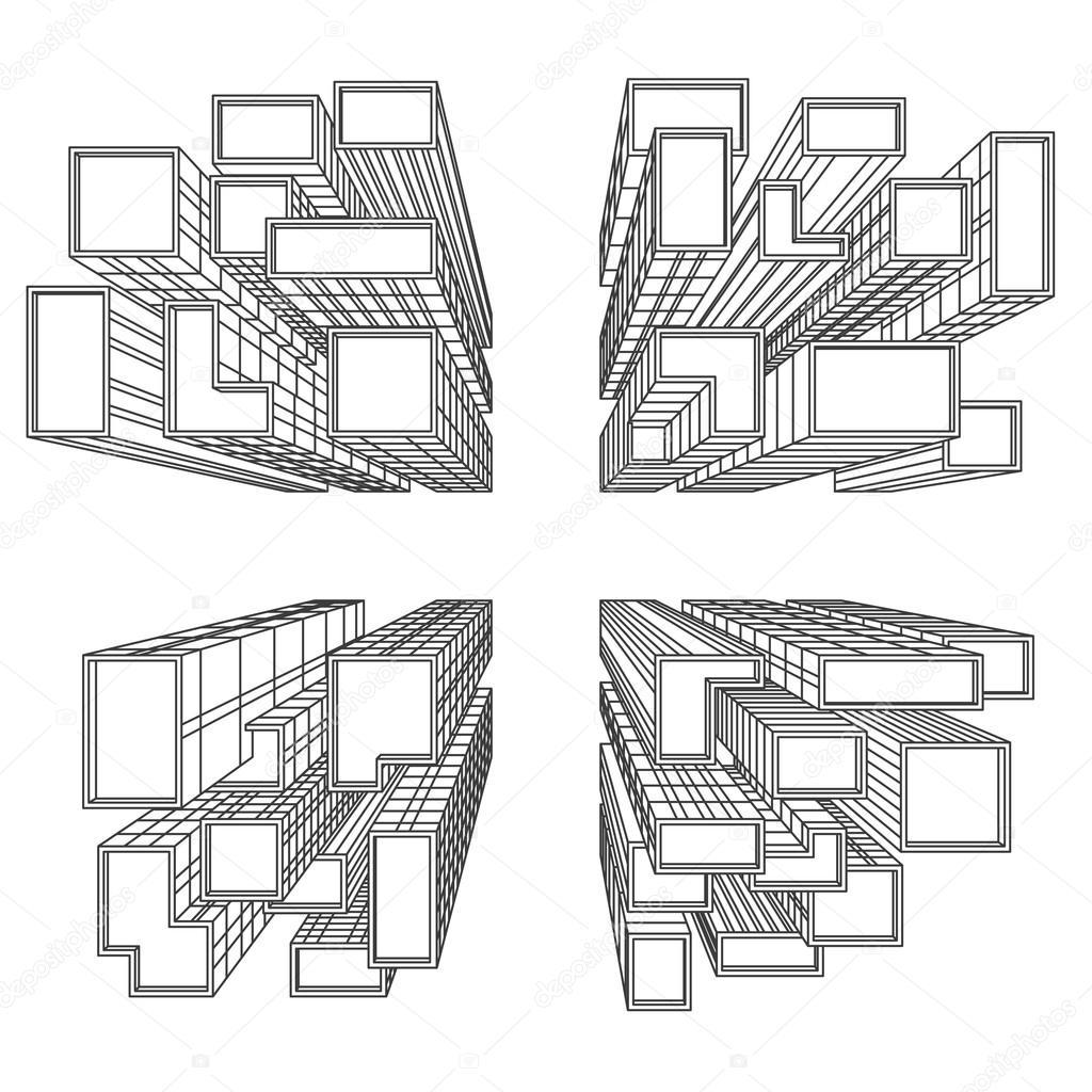 grande citt con grattacieli d 39 uccello vettoriali stock g wolf 87830244. Black Bedroom Furniture Sets. Home Design Ideas