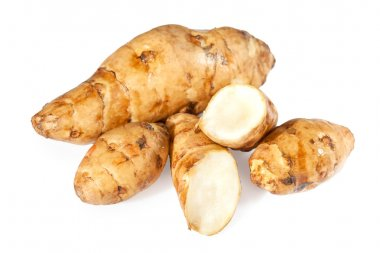 Topinambur or sunroot vegetables