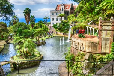 Scenic of Monte Palace Tropical Garden. Funchal, Madeira Island, Portugal