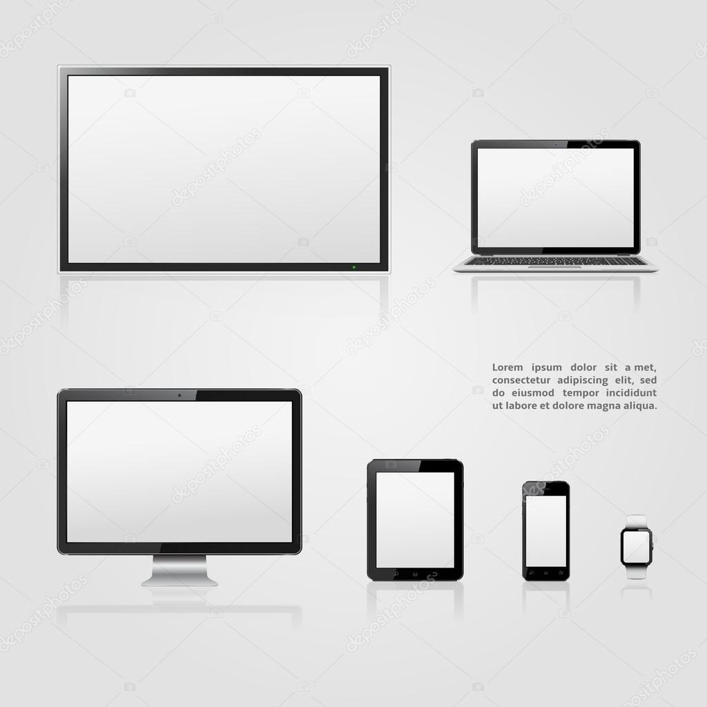 Pantalla del televisor, monitor lcd, notebook, tablet PC, teléfono ...