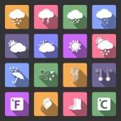 Wetter flache Symbole gesetzt