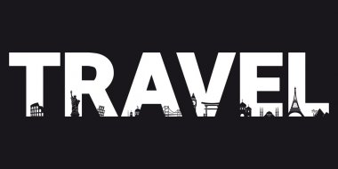Travel - vector letters