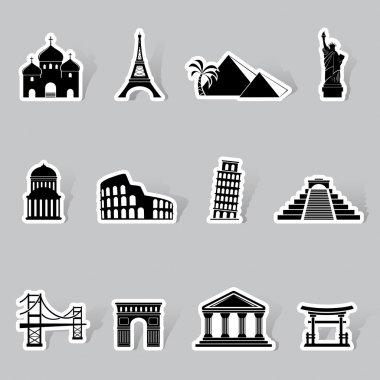 Landmarks icons as labels