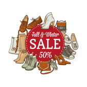 Photo female shoes and bags sale banner