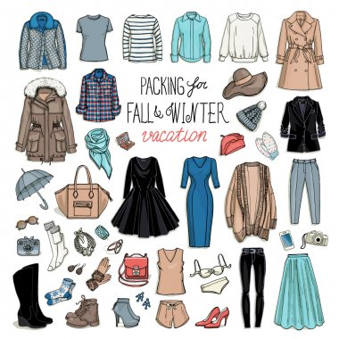 Fall and winter travel luggage collection