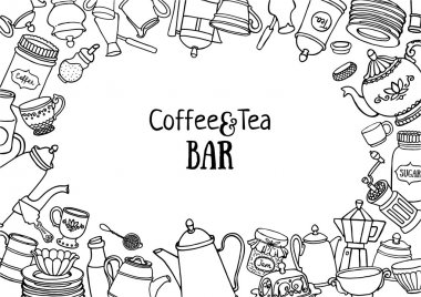 Coffee and tea design background