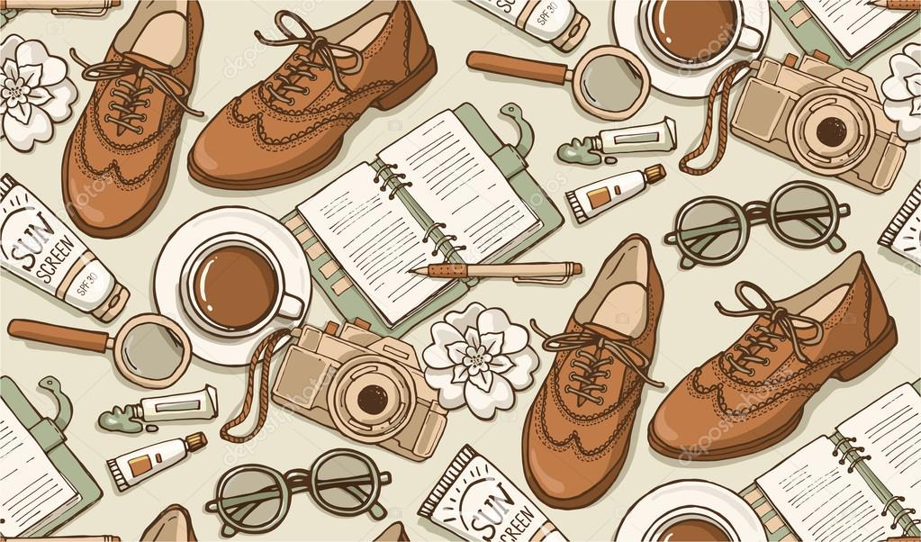 fashion and style accessories pattern