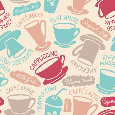 coffee cups pattern