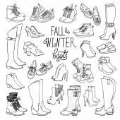 Módní kolekce zimní obuv a boty