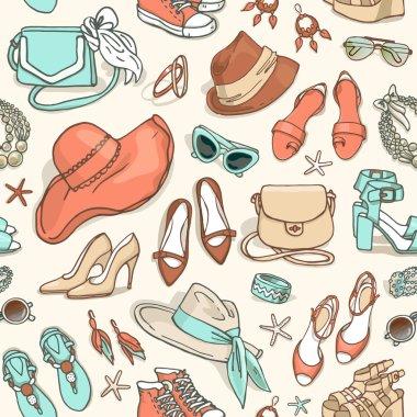 female fashion accessories pattern