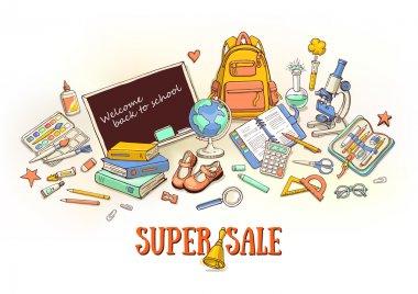 super school sale banner