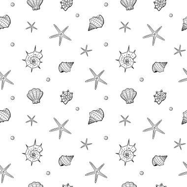 sea shells and stars pattern