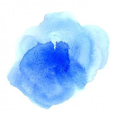 abstract watercolor blue background