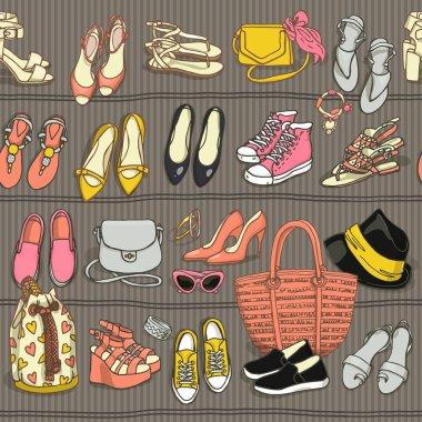 female fashion accessories set