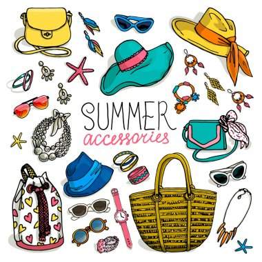 woman summer accessories set