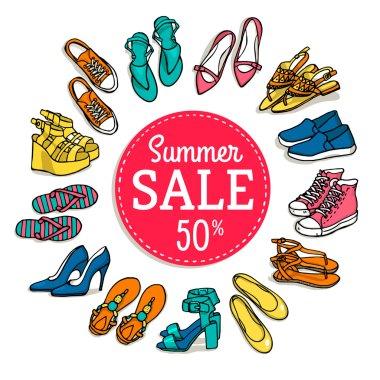 summer female shoes sale banner