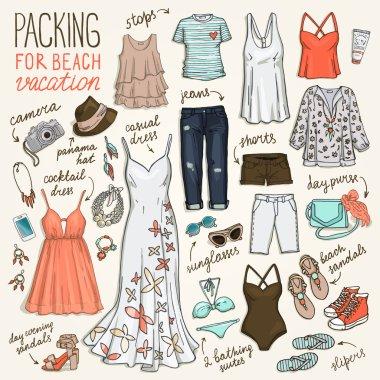 summer beach vacation clothing set