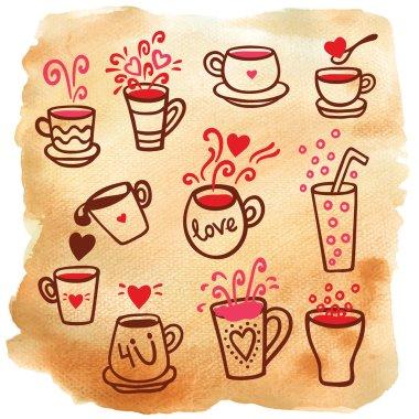 tea cups, jugs, drink set