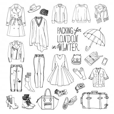 Winter clothes for London travel