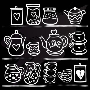 set of collection for tea drink