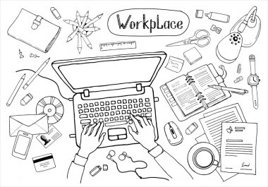 business workspace, workplace concept