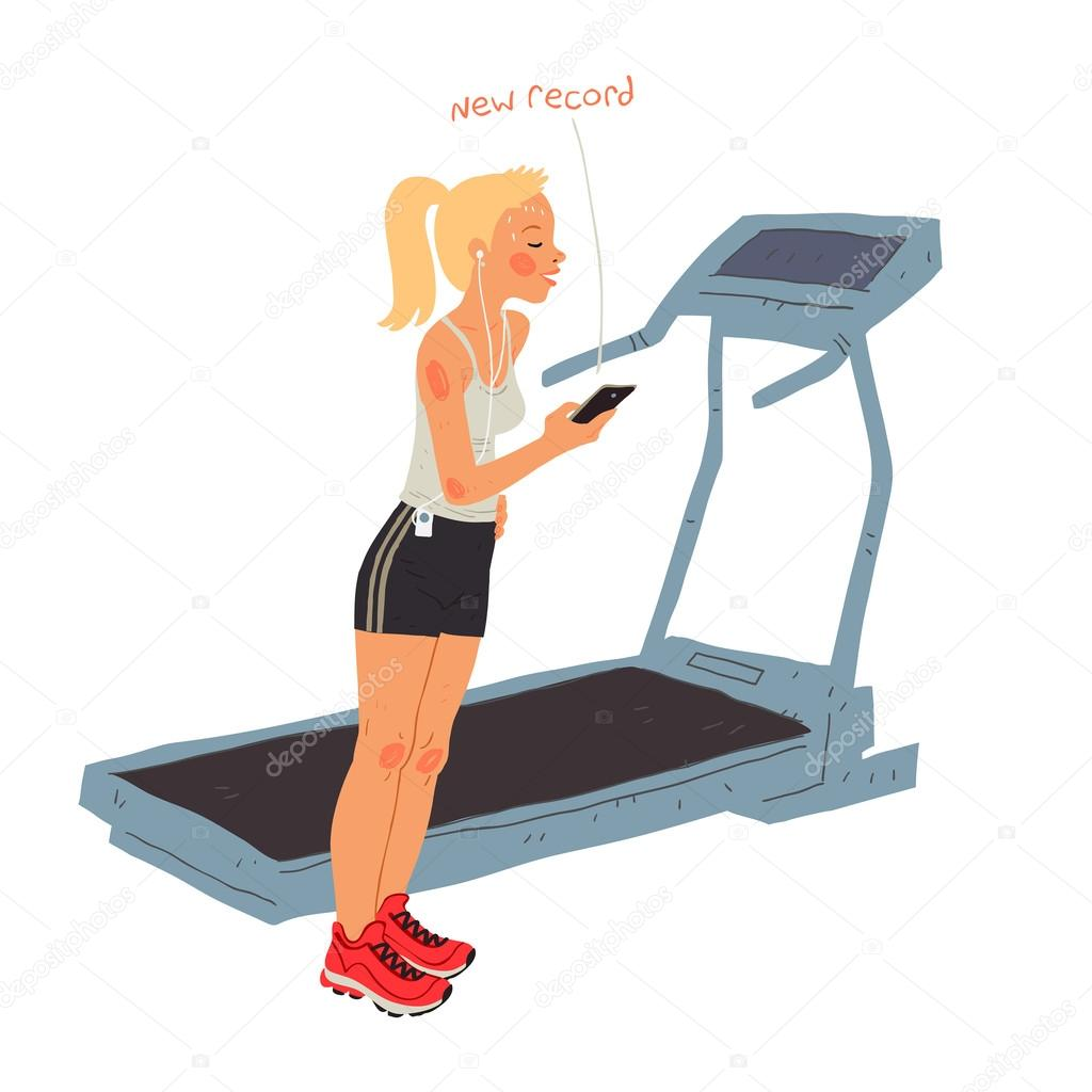dessin femme sportive