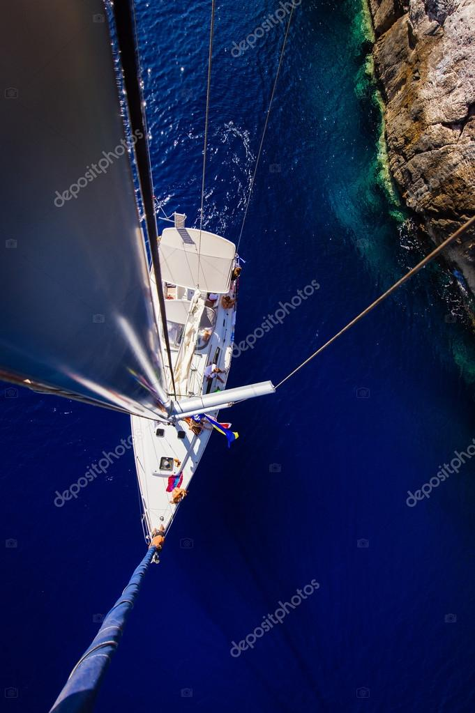 The yacht, the view from the top