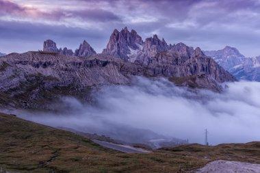 Beautiful sunrise on the Dolomites