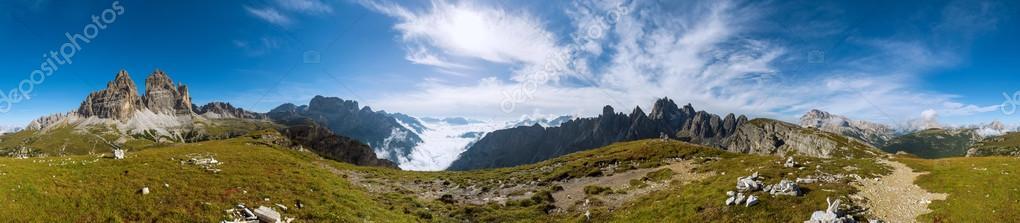 Panorama shot of Dolomites