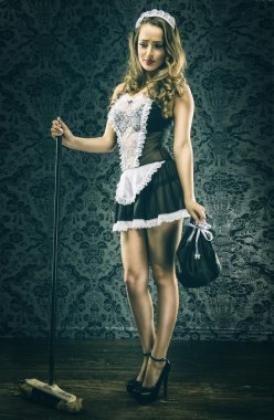 Vintage sexy maid