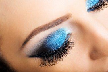 eye with beautiful  makeup