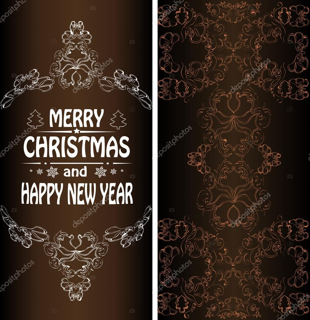 christmas banner in the victorian style vector by lilichka2015