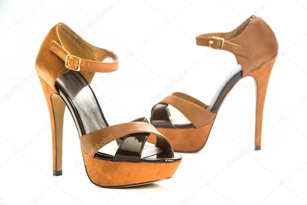 d6e79d485ac0 modne buty na obcasie buty — Zdjęcie stockowe © stockbymh  52146545