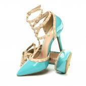 Fotografia Scarpe tacchi alti alla moda con cinturini alla caviglia, Xxxl immagine