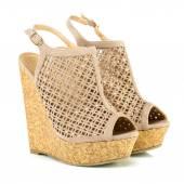 Fotografia Scarpe tacchi alti alla moda con immagine di Xxxl suola, zeppa