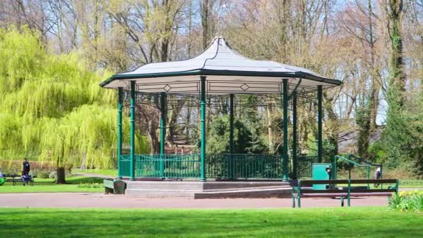 The pavilion in Memorial Park in Willenhall, UK.