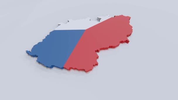 Mapa Českého R s českou vlajkou