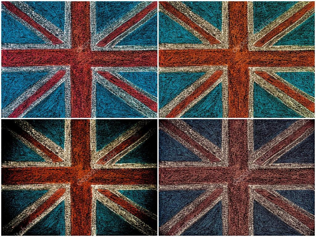 Collage De Fotos De Bandera De Reino Unido British Union Jack