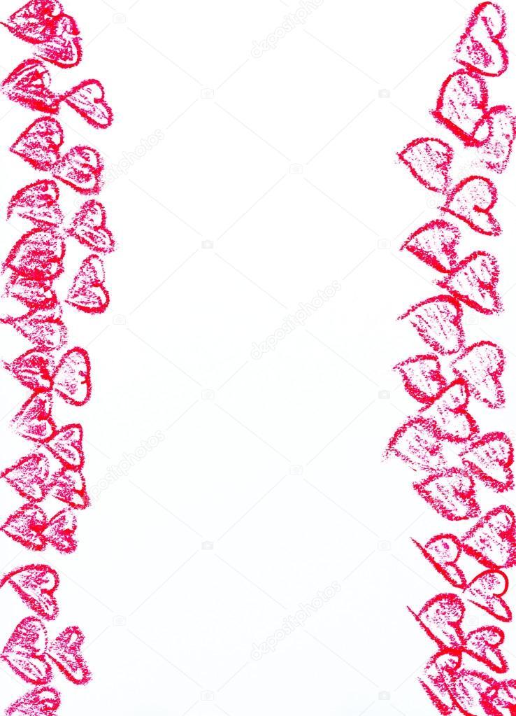 Formas de amor año | Feliz día de San Valentín marco de la ...