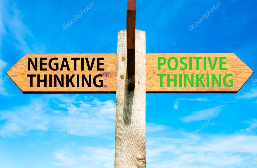 negative thinking vs positive thinking