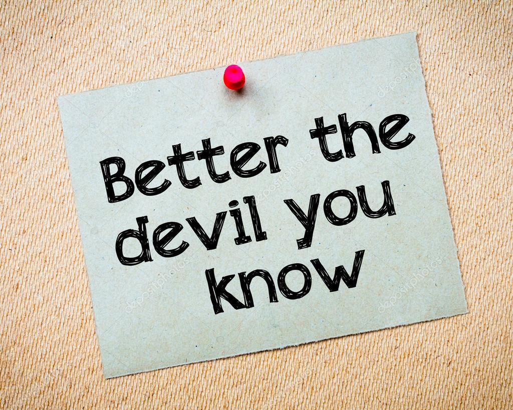 The Devil You Know Pdf