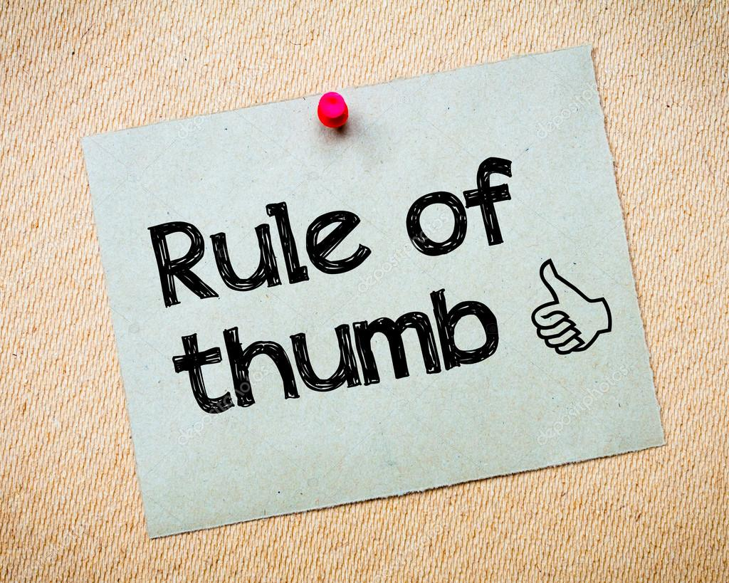 Rule of Thumb — Stock Photo © stanciuc1 #68730797